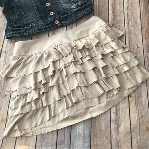 Express Tiered Ruffle Skirt